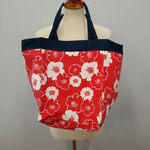 Thirty One Canvas Tote Red, Blue